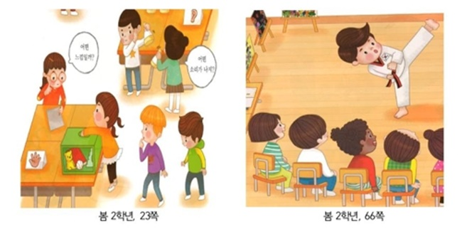 The National Human Rights Commission of Korea (NHRC) has criticized the creators of elementary school textbooks for subtle job discrimination. (Image: NHRC)