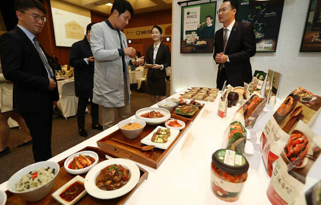 CJ Cheiljedang Corp., South Korea's leading food manufacturer, said Thursday its net profit rose 16.8 percent in 2017 from a year earlier on the back of brisk performance of its processed foods and overseas businesses. (Image: Yonhap)