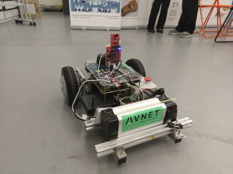 An autonomous guided vehicle (AGV) designed by Avnet using the MicroZed Embedded Vision Kit. (image: Avnet)