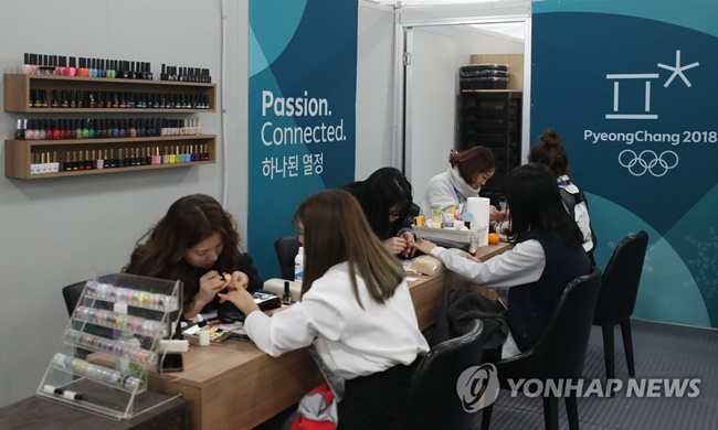 The Gangneung Olympic Village Plaza is offering hanbok rentals, complimentary hair styling, and video game services to welcome athletes from around the world. (Image: Yonhap)
