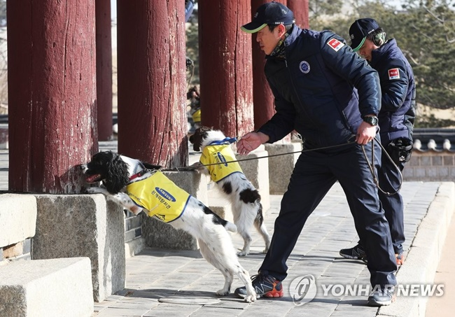 Gyeonggi Province Using Sniffer Dogs for Pest Control