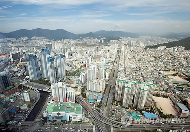 View of Busan from above. (Image: Yonhap)