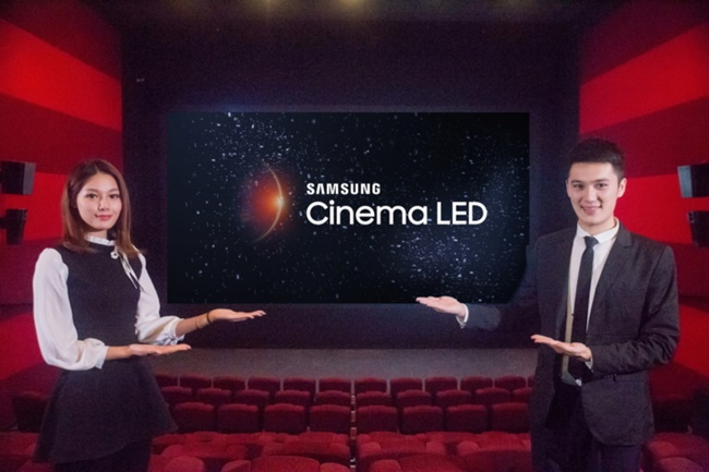 Samsung's first LED cinema screen in partnership with the world's largest theater operator, Wanda Group, premiered at Wanda's Wujiaochang theater over the weekend, following in the footsteps of Seoul, Busan, Bangkok, and Zurich. (Image: Samsung Electronics)