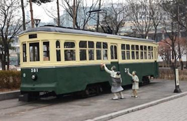 A tram stored at the Seoul Museum of History (Image: Seoul Metropolitan City)