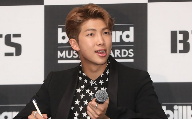 RM, leader of the popular boy band BTS, has recently undergone surgery for a deviated septum, his management agency, Big Hit, said Monday. (Image: Yonhap)