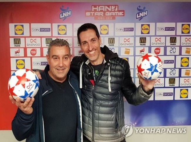 South Korean appliance manufacturer Dongbu Daewoo Electronics Corp. participated as an official sponsor for France's handball league, the company said Monday. (Image: Yonhap)