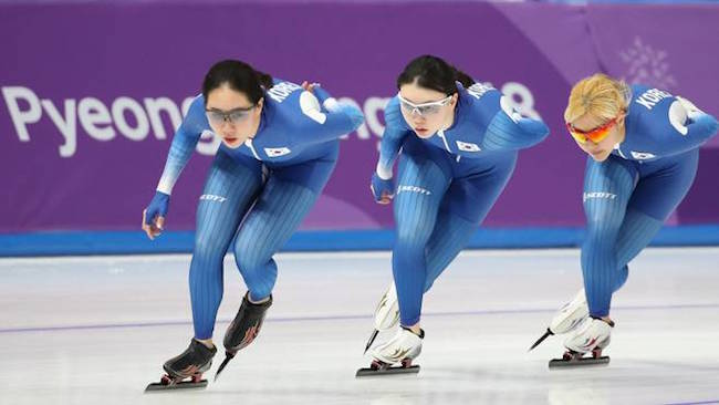 The South Korean women's team pursuit quarterfinals performance at the PyeongChang Oympics has sparked an uproar that has yet to settle. (Image: Yonhap)