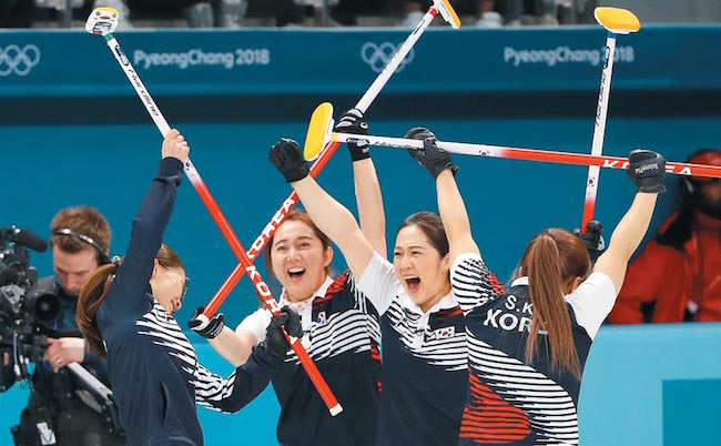 "The immense star power of ""Team Kim"" at the PyeongChang 2018 Winter Olympics has household appliance makers coveting the silver medal winning curlers as endorsement models for vacuum cleaning products. (Image: Yonhap)"