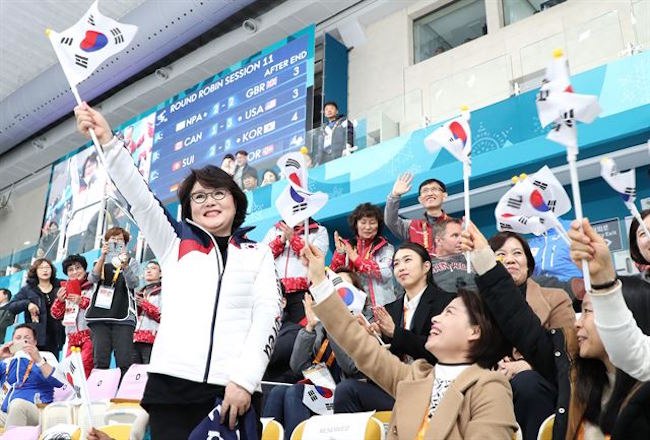 Since then, Kim has been a consistent presence in the stands during events featuring South Korean performers. (Image: Yonhap)