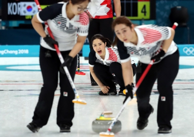 """Ever since South Korea's """"Team Kim"""" became the darlings of the PyeongChang 2018 Winter Olympics with a surprise silver medal in women's curling, the sport originating from Scotland has experienced a surge in local popularity. (Image: Yonhap)"""