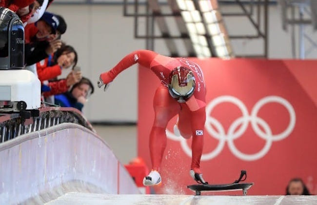 The implementation of VR has served athletes well. South Korea's Yun Sung-bin won Asia's first gold in the skeleton, while the bobsleigh team recorded its best-ever marks in their competition. (Image: Yonhap)