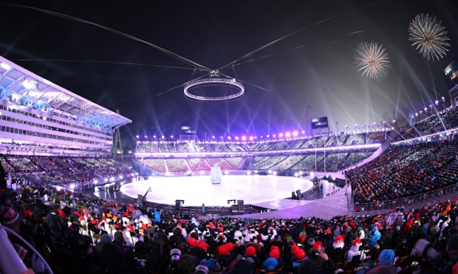 In the survey, 65 percent of the people regarded the first Winter Games in South Korea to have been a success. (Image: Yonhap)