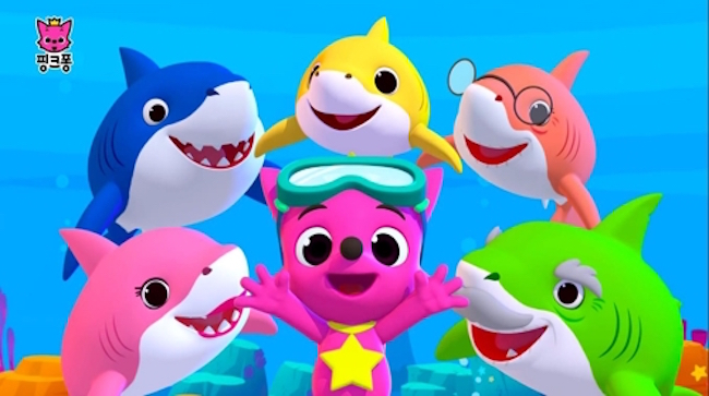 Pinkfong! and Shark characters (Image: Yonhap)