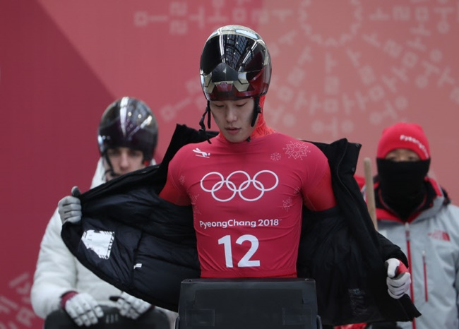 Seven South Korean athletes at the 2018 PyeongChang Olympics, including skeleton slider Yun Sung-bin, did just that, according to government officials. (Image: Yonhap)