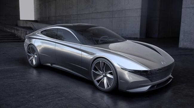 This rendering provided by Hyundai Motor on March 6, 2018, shows its Le Fil Rouge concept car, which will be unveiled at the Geneva Motor Show this month. (Image: Hyundai Motor)