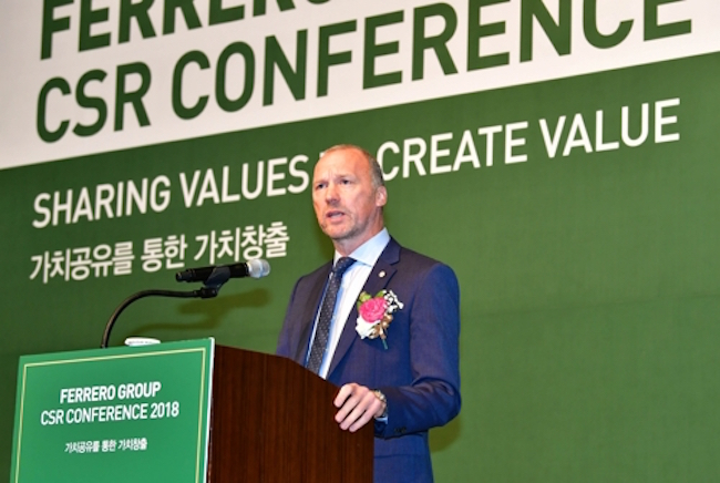 """North Asia Operations Chief Craig Barker said at the conference held in Seoul, """"South Korea is a very important market for Ferrero Group and presents opportunities for expansion into diverse arenas. [South Korea] is a priority within the group and its importance will grow."""" (Image: Ferrero)"""
