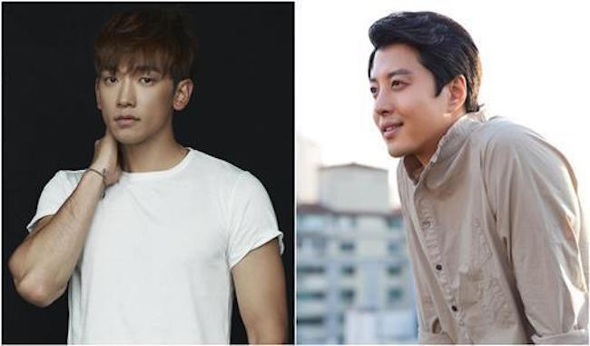 The actors Jung Ji-hoon, better known by his stage name Rain, and Lee Dong-gun have been cast for a new TV series on JTBC, the network said Tuesday. (Image: Yonhap)