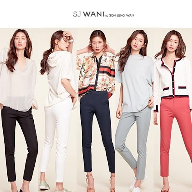 GS Shop disclosed on March 11 that total orders received for its clothing wear brand SJ Wani – co-created with designer Son Jung Wan in 2012 – had surpassed 300 billion won. (Image: GS Shop)