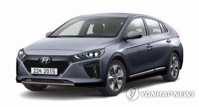 Hyundai Motor Co., South Korea's largest carmaker, on Thursday unveiled upgraded versions of its Ioniq hybrid and electric vehicles (EVs) with enhanced safety features and better range. (Image: Yonhap)