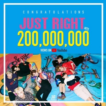 GOT7′s 'Just Right' Tops 200 Million YouTube Views