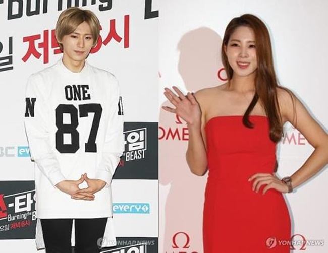 A composite file photo of K-pop singer Jang Hyun-seung (L) and star athlete Shin Soo-ji (Image: Yonhap)