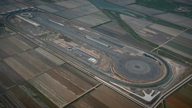 This photo provided by Hyundai Mobis shows the auto parts company's proving ground for new technologies and systems in Seosan, 150 kilometers south of Seoul. (Image: Yonhap)