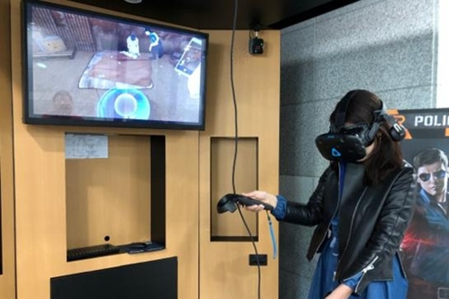 A new virtual reality program that will be used to better prepare police officers for cases of sexual violence and child abuse is being launched by a South Korean police agency. (Image: Yonhap)