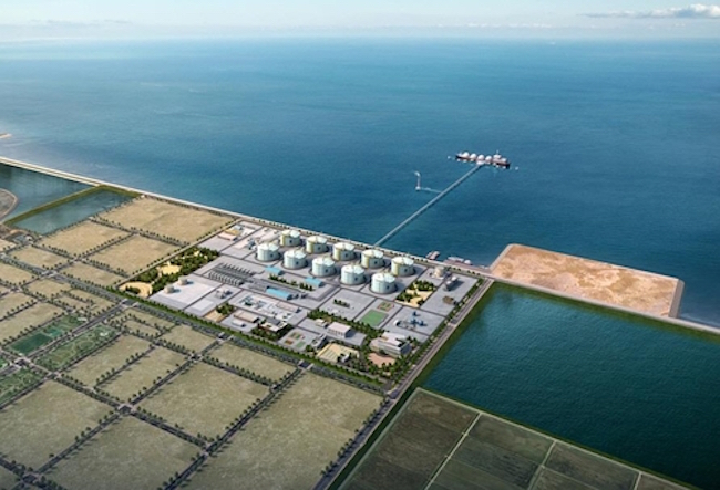 A LNG collection site to be built in Dangjin (Image: Dangjin City)