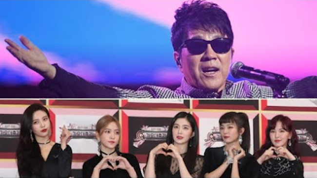South Korean artists Cho Young-pil (top) and Red Velvet (bottom) (Image: Yonhap)