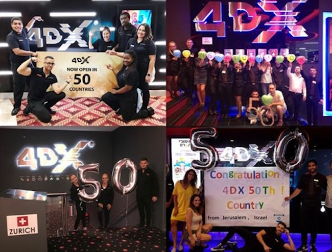 4DX theaters around the world celebratin (Image: CJ CGV)