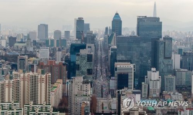 Drone filmed skyline of Seoul (Image: Yonhap)