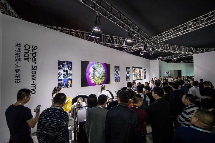 Last month, Samsung Electronics held a Galaxy S9 series launch event in Guangzhou, China. (image: Samsung Electronics)