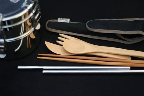 32-year-old writer Jeon Jae-eun the chopsticks, spoon and fork when she goes out so she can avoid using disposable items. (image: Jeon Jae-eun)