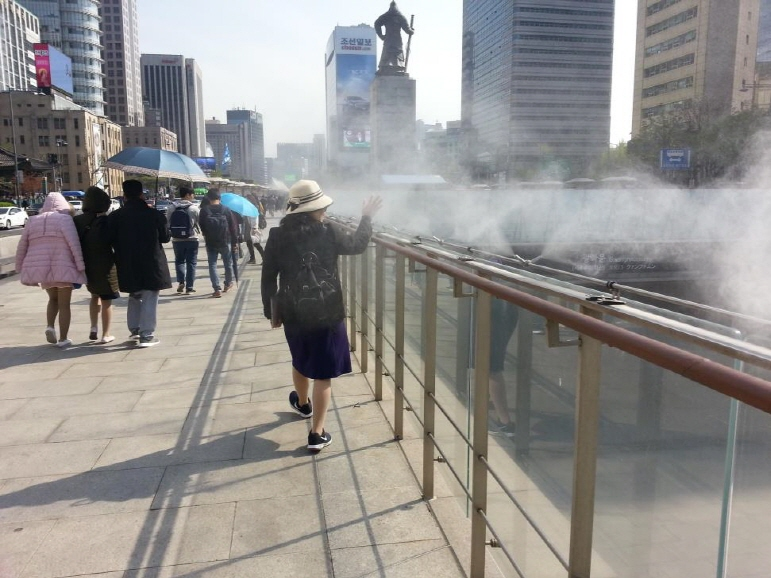 Cooling System to Lower Heat at Gwanghwamun Plaza