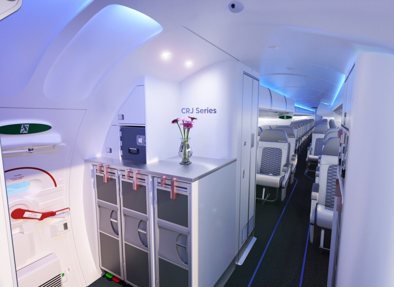 Delta Air Lines Becomes Launch Operator of ATMOSPHÈRE Cabin. (image: Bombardier Commercial Aircraft)