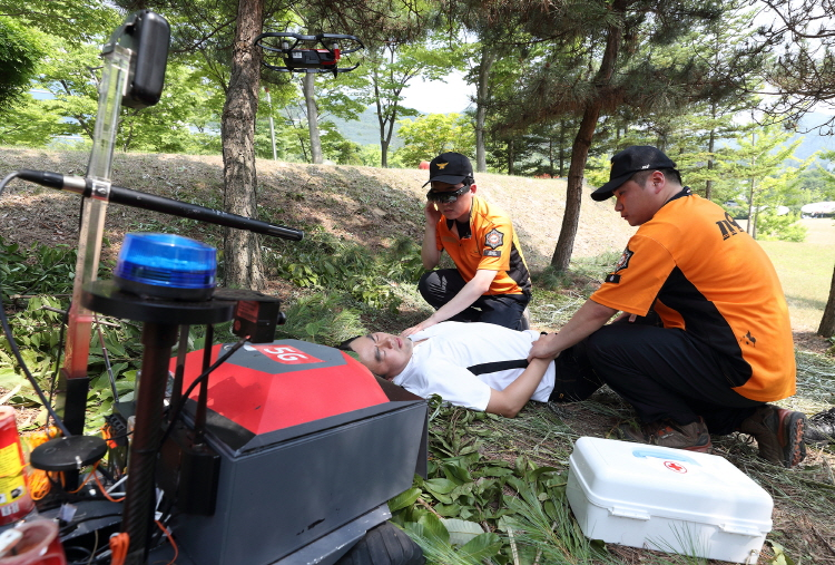 KT Develops Unmanned Rescue Platform