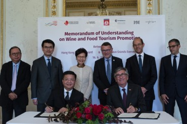 Hong Kong and Bordeaux Sign the First MoU on Wine and Food Tourism Promotion