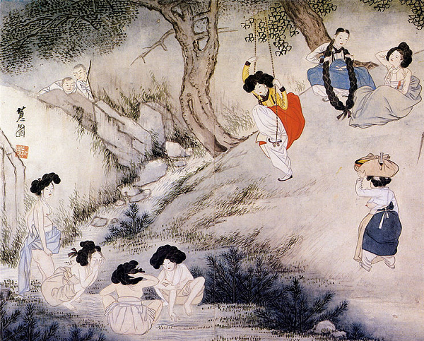 Painting depicting Dano by Shin Yun-bok (Image courtesy of Wikimedia Commons)