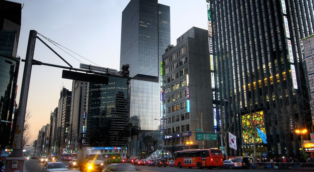 A scene from Gangnam district (Image courtesy of Wikimiedia Commons)