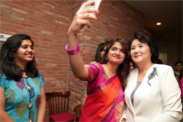 First Lady Watches Bollywood Hit with Indian Students