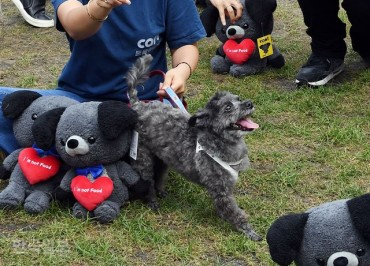 President Moon's Pet Dog Appears at Dog Meat Trade Protest