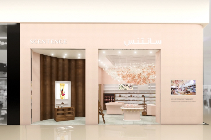 A store for E-Mart's beauty brand Scentence set to open at a shopping mall in the Saudi capital city of Riyadh on July 22, 2018. (image: E-Mart Inc.)