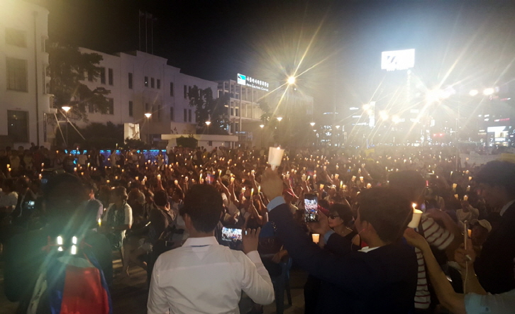Cambodians in Gwangju Rally for Democracy Back Home