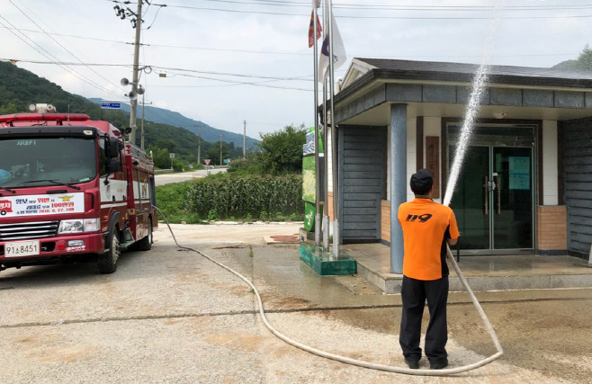 Gangwon Firefighters Cool Roads with 530 Tons of Water