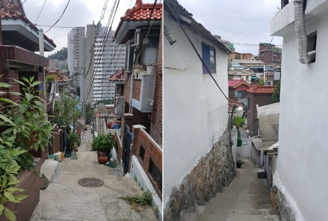 Narrow alleyways in Samyang-dong, northern Seoul. (image: Yonhap)