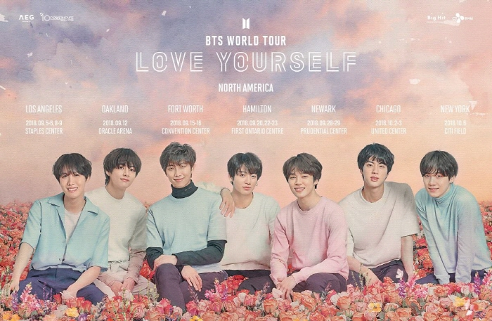 The promotional image for an upcoming BTS world tour. (image: Big Hit Entertainment)