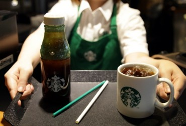 Starbucks Korea Begins Trial Use of Paper Straws