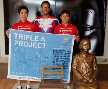 Three Korean Men Bike Across America to Publicize Comfort Women Issue