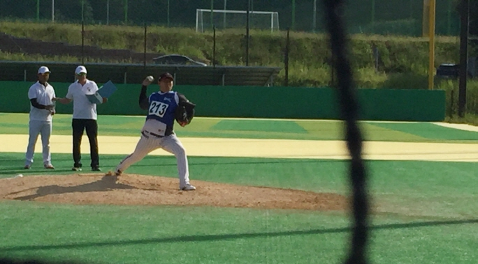 S. Korean Team in Australian Baseball League Holds 1st Day of Open Tryouts