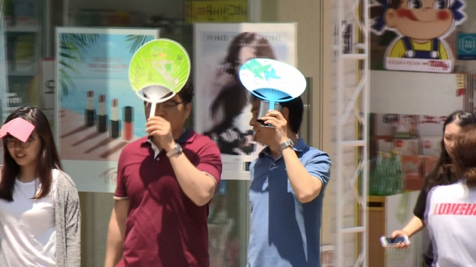 "When temperatures go beyond 41 degrees, the heat stress level is categorized as ""extreme."" (image: Yonhap)"